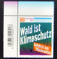 """Bund/BRD Oktober 2021 Sondermarke """"Wald Ist Klimaschutz"""" MiNr 3634, Ecke 1, Ersttagsgestempelt - Usati"""