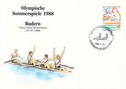 Korea Cover 1988 Seoul Olympic Games - German Medal Winner: Men, Rowingg (DD33-58) - Zomer 1988: Seoel