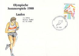 Korea Cover 1988 Seoul Olympic Games - German Medal Winner: Men Athletics 4 X 400 Meter (DD33-58) - Zomer 1988: Seoel