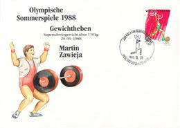 Korea Cover 1988 Seoul Olympic Games - German Medal Winner: Martin Zawieja, Weightlifting (DD33-58) - Zomer 1988: Seoel