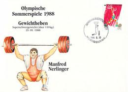 Korea Cover 1988 Seoul Olympic Games - German Medal Winner: Manfred Nerlinger, Weightlifting (DD33-58) - Zomer 1988: Seoel