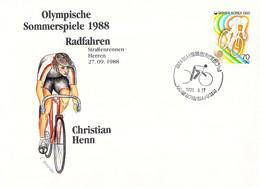 Korea Cover 1988 Seoul Olympic Games - German Medal Winner: Christian Henn, Cycling (DD33-58) - Zomer 1988: Seoel