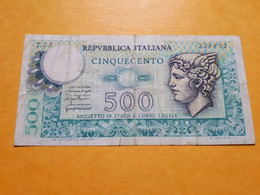 ITALIE 500 LIRE 20-12-1976 - 500 Liras