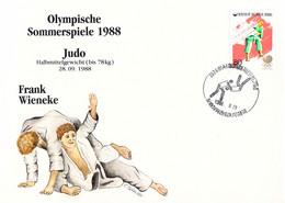 Korea Cover 1988 Seoul Olympic Games - German Medal Winner: Frank Wieneke, Judo (DD33-58) - Zomer 1988: Seoel