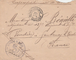 LETTRE CORPS  EXPEDITIONNAIRE DE CHINE 1900 - Storia Postale