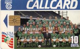 IRELAND - CHIP CARD - SOCCER FOOTBALL - WORLD CUP USA 94 - IRELAND TEAM - Ireland