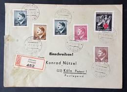 Böhmen Und Mähren Einschreibebrief Nach Köln 1944 - Briefe U. Dokumente