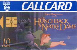 IRELAND - CHIP CARD - CARTOON WALT DISNEY THE HUNCHBACK OF NOTRE DAME - Ireland