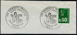 """Exposition """"Les Cheminots Philatélistes"""" - Paris 1976 Sur Fragment - Gedenkstempels"""