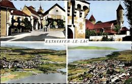 CPA Estavayer Kanton Freiburg, Ortspartien, Panorama - FR Fribourg