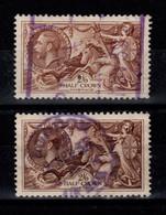 Grande Bretagne - YV 198 , Un Clair Et Un Foncé , Obliteres , Pas Amincis , Cote 74+ Euros - Used Stamps