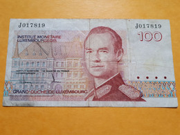 LUXEMBOURG 100 FRANCS 1986 P-58a - Luxembourg