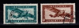 Indochine - YV PA 46 & 47 Oblitérés , Pas Courant , Cote 24 Euros - Aéreo
