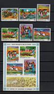 Guinea 1968 Michel 480-485 + Block 27 African Fairy Tales Set Of 6 + S/s MNH - Fiabe, Racconti Popolari & Leggende