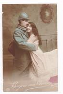 CPA Colorisée Poilu, Couple,  Phot. Boulanger 117, 1916 - Oorlog 1914-18