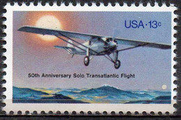 USA 1977 13¢ 50th Anniversary Of First Solo Transatlantic Flight - Ungebraucht