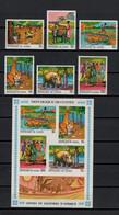 Guinea 1968 Michel 487-492 + Block 28 African Fairy Tales Set Of 6 + S/s MNH - Fiabe, Racconti Popolari & Leggende