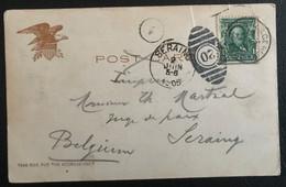 Etats-Unis 1905 De New York Vers Seraing Belgique (1229) - Covers & Documents