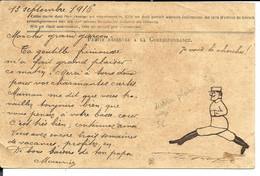 Carte écrite 1916 Par Le Sergent Maurice GEOFFRIN (de Flornoy Par Wassy 52) - Secteur Postal 121 > Dessin à La Plume - Oorlog 1914-18