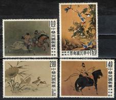 TAIWAN - 1960 - ANTICHI DIPINTI CINESI DEL MUSEO DI TAICHUNG - MNH - Unused Stamps