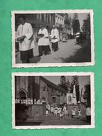 Photographie 76 Seine Maritime Saint Gilles De La Neuville 2 Photos Communions Du 15 Aout 1936 ( Format 6cm X 9cm ) - Plaatsen