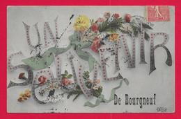 CPA Saint-Éloy De Gy - Bourgneuf - Un Souvenir De Bourgneuf - Andere Gemeenten