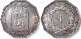 $ France Rhône (69), Jeton Argent Caisse D' Epargne De Lyon Fondée En 1822 ..TB - Professionnels / De Société