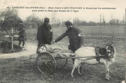 ATTELAGE D'un BOUC - SERVICE De SANTE Des ARMEES - CONCHY LES POTS (60)  - CPA - TRES BON ETAT - Oorlog 1914-18