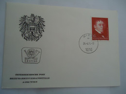 AUSTRIA FDC 1974  PEOPLES - Ohne Zuordnung