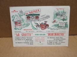 ARCY SUR CURE (89) Carte Publicitaire La Grotte Montmartre Restaurant 39 Rue Lepic PARIS - Otros Municipios