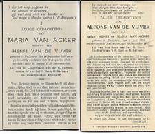 Oorlogsslachtoffer, Zaffelare, A.Van De Vijver, V2 Bom Op Cinema Rex Te Antwerpen, + DP Van Zijn Moeder - Godsdienst & Esoterisme
