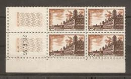 France 1956- Brouage - Bloc De 4 1042 MNH - Coin Daté 20/06/56 - 1950-1959
