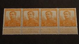 N 116 ** MNH   Strip Van 4 - 1912 Pellens