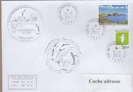 TAAF PLI KERGUELEN TP 628 + 679 OBL. 13 11 2013. - Covers & Documents