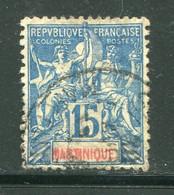 MARTINIQUE- Y&T N°36- Oblitéré - Gebraucht