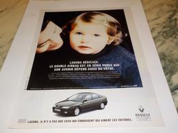 ANCIENNE PUBLICITE LAGUNA  VOITURE RENAULT 1995 - Voitures