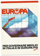 AA2650 Politica - Partito Socialista Italiano PSI - Vota PSI In Europa / Non Viaggiata - Political Parties & Elections