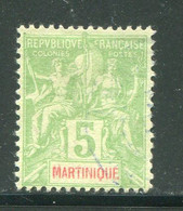 MARTINIQUE- Y&T N°44- Oblitéré - Gebraucht