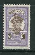 MARTINIQUE- Y&T N°67- Neuf Avec Charnière * - Ungebraucht