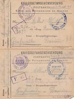 MILITARIA - Lot De 4 Cartes De Correspondance - Camps De Prisonniers Allemagne - Oorlog 1914-18