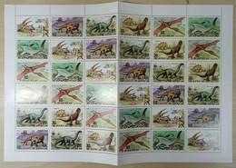 NW0171 1991 KOREA DINOSAURS FAUNA REPTILES PREHISTORIC ANIMALS FULL BIG SH MNH FOLDED - Preistorici