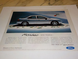 ANCIENNE PUBLICITE SERIE OVATION VOITURE FORD  MONDEO 1995 - Voitures