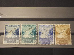 YEMEN (NORD)- Soprastampati SAGGIO - 1954 MOSCHEE/ALBERI 6-8-12-20 - NUOVI(+)- Rari - Yemen