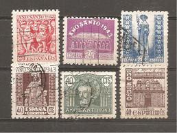 España/Spain-(usado) - Edifil  961-62, 964-65, 967-68 - Yvert 718-20, 721-23 (o) - 1931-50 Usati