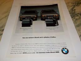 ANCIENNE PUBLICITE NOS MOTEURS DIESEL  BMW 1991 - Voitures
