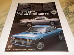 ANCIENNE  PUBLICITE VOITURE  BETA   DE LANCIA 1990 - Cars