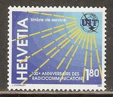 Switzerland 1994 UIT / ITU Mi# 15 ** MNH - 100 Years Of Radio - Dienstpost