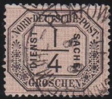 Nord     .    Michel     .  Dienst  1  (2 Scans)         .    O       .     Gestempelt - Norddeutscher Postbezirk