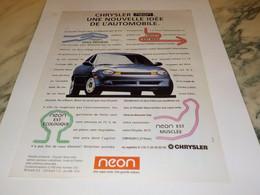 ANCIENNE  PUBLICITE VOITURE NEON DE  CHRYSLER  1995 - Cars