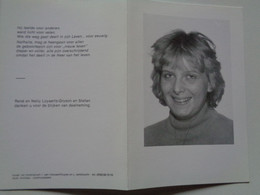 Doodsprentje/Bidprentje  NATHALIE LOYAERTS  Menen 1969-1989 Kortrijk Ongeval  (dochter René & Nelly Gryson) - Godsdienst & Esoterisme